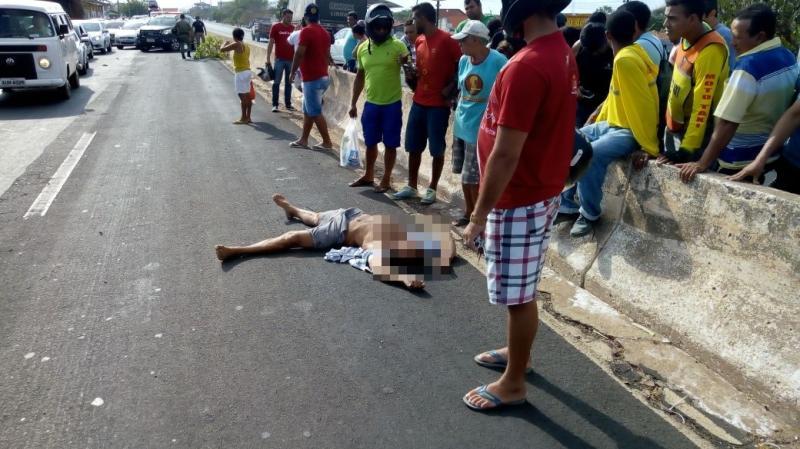 Idoso morre atropelado ao tentar atravessar a BR-316