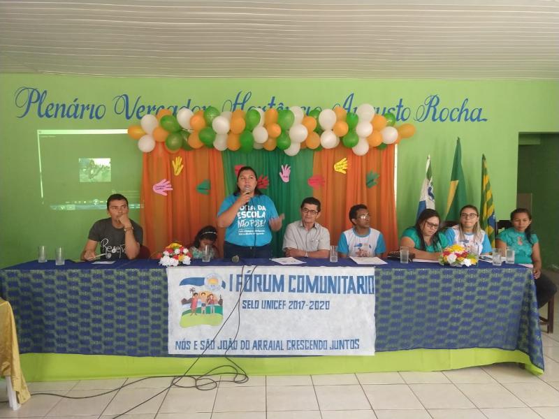 São João do Arraial realizou 1º Fórum Comunitário do selo Unicef