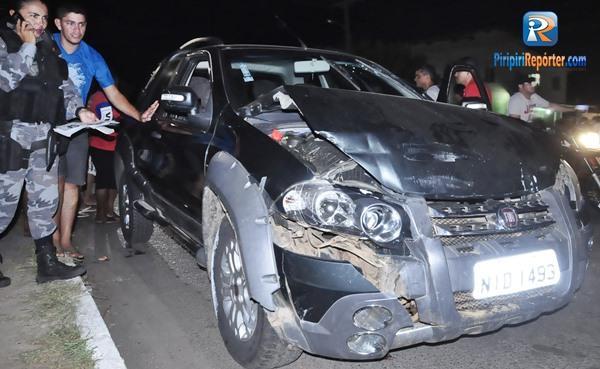 Colisão entre dois veículos deixa uma pessoa ferida no Piauí