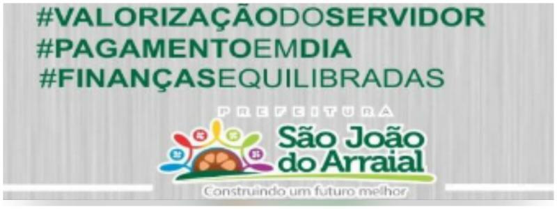 Salário dos servidores públicos de São João do Arraial já está na conta