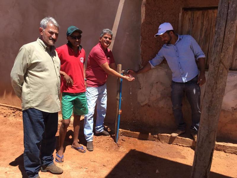 Nova comunidade é beneficiada pelo projeto Água Corrente