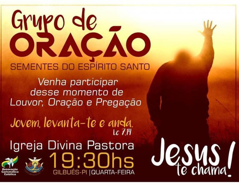 Convite do Grupo de Oração Sementes do Espírito Santo