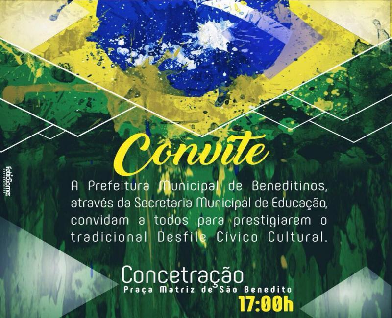SEMEC/BENEDITINOS convida a todos para tradicional desfile da Independência