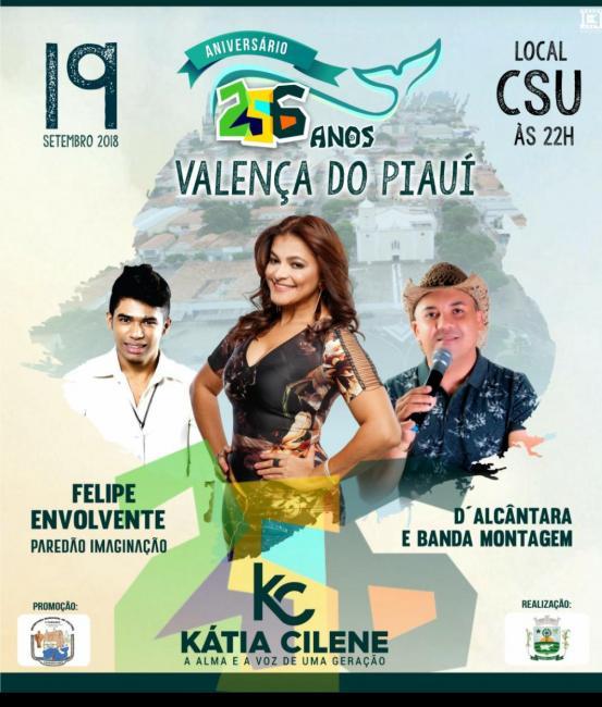 Prefeitura de Valença divulga as atrações do aniversário da cidade