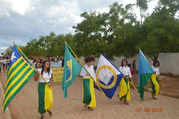 Desfile de 07 de setembro na Comunidade Aliança do Gurgueia