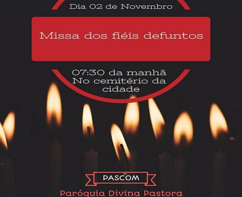 Dia 02 de Novembro Missa dos Finados no cemitério de Gilbués-PI