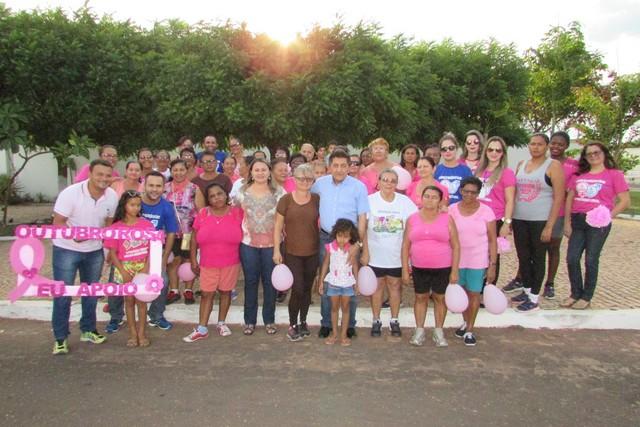 Caminhada Pela Vida Marcou a Culminância da Campanha Outubro Rosa em Ipiranga