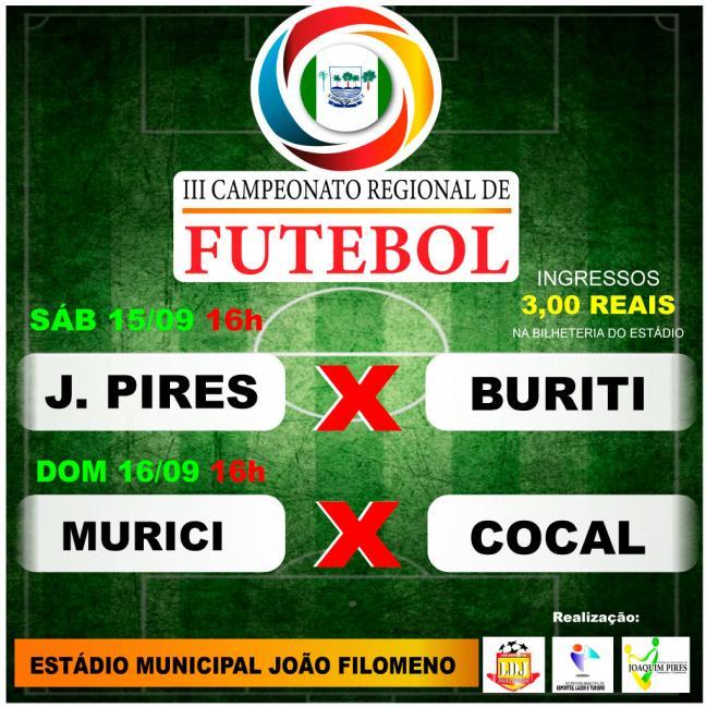 Seleção Municipal estreia no Regional neste sábado