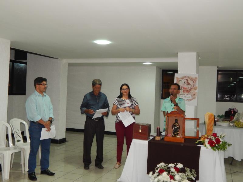 Ex. Prefeito recebe visita da Imagem de São Benedito