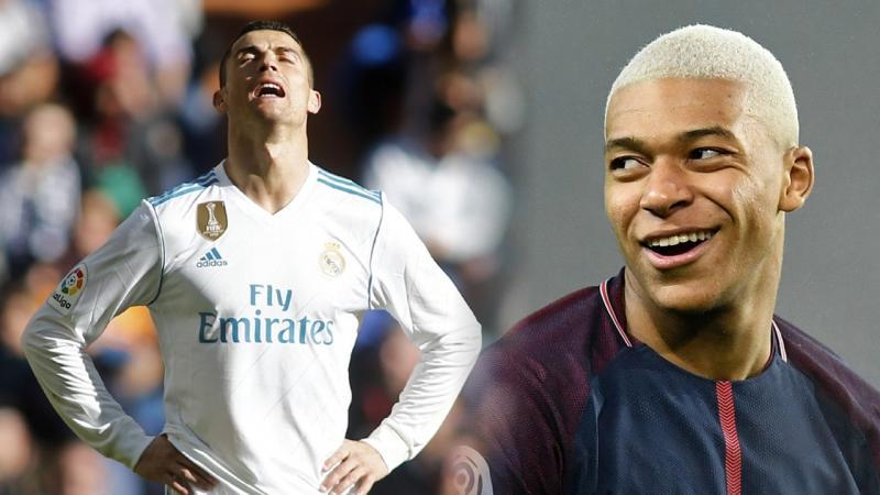 Mbappé declara que torce por uma final na Champions League contra CR7