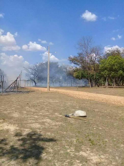 Fogo destrói barracas em santuário piauiense