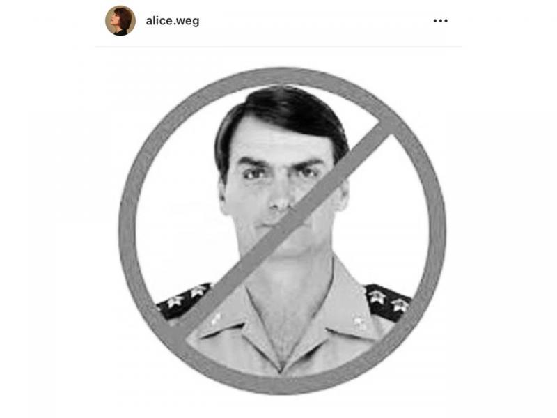 Atriz Global posta foto de Bolsonaro com declaração surpreendente