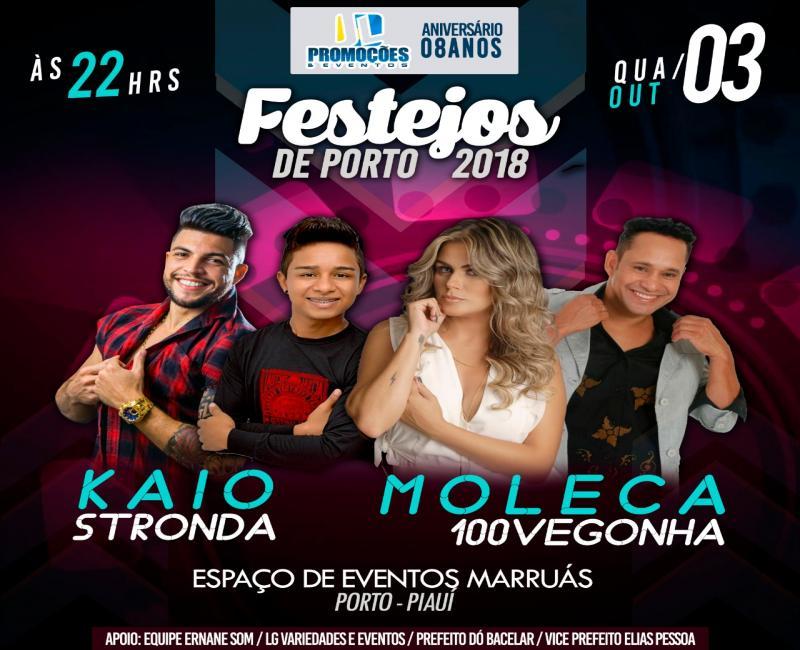 Porto-PI | Confira agenda de Shows do CEM nos festejos em 2018