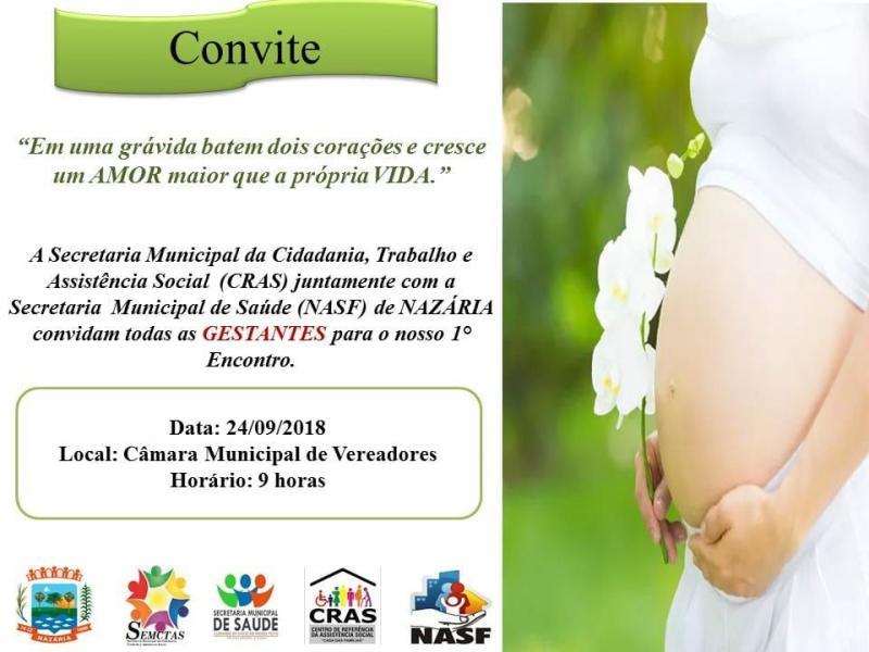NASF de nazária realiza o 1º encontro de grávidas do município