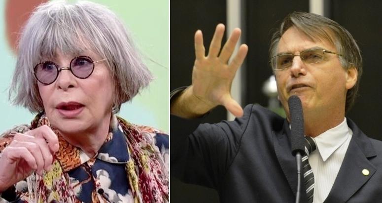 Rita Lee expõe em rede social que já viveu caso com Bolsonaro