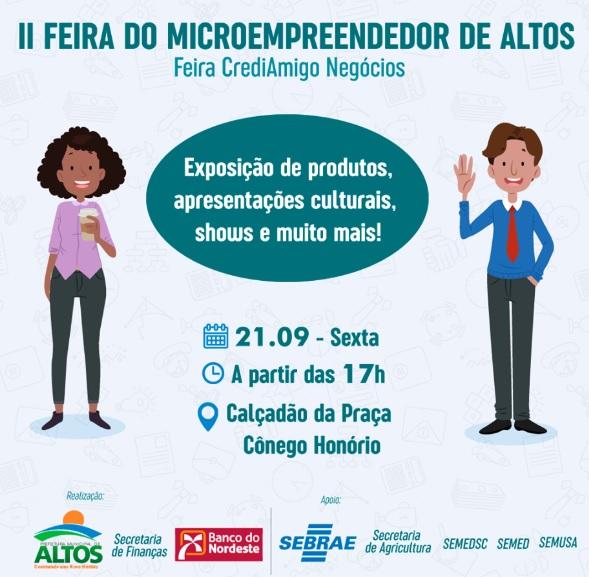 Altos realiza II Feira do Microempreendedor nesta sexta-feira