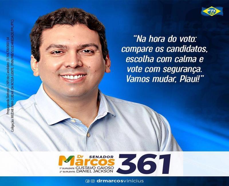 Inocentado no TRE, Dr. Marcos Vinícius cresce quase 100% em nova pesquisa