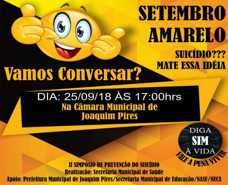 SMS de Joaquim Pires vai realizar II Simpósio de Prevenção Suicídio