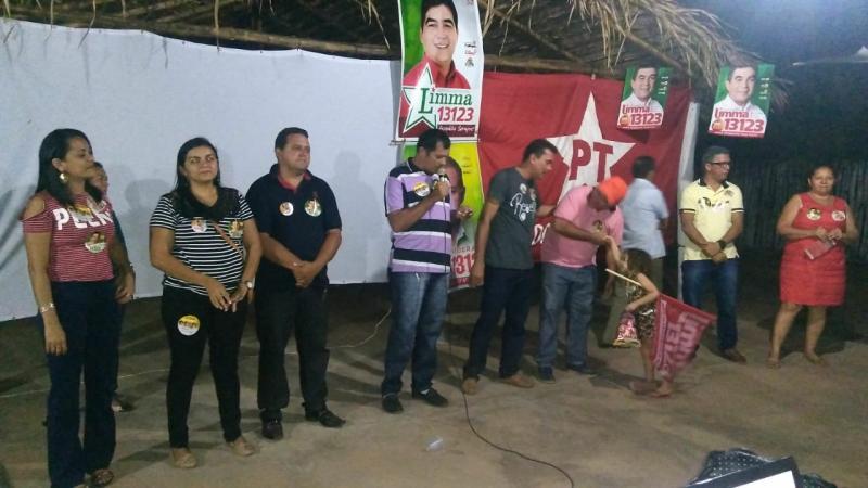 Apoiadores do deputado Limma realizaram reunião no povoado Centro