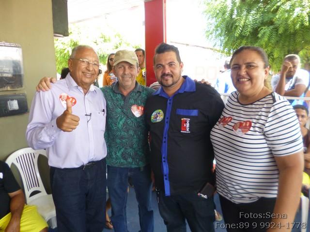 Professora Socorro Cipriano Vicente Saraiva e amigos recebem Dr. Pessoa