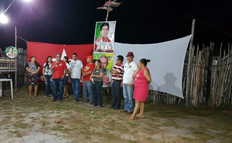 Apoiadores do deputado Limma realizaram reunião no povoado Faveira