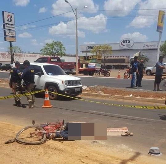 Ciclista morre atropelado por caminhão na BR-316