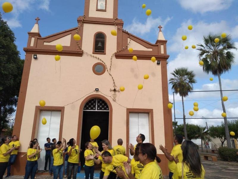Demerval Lobão   Secretaria de saúde realiza caminhada do setembro amarelo