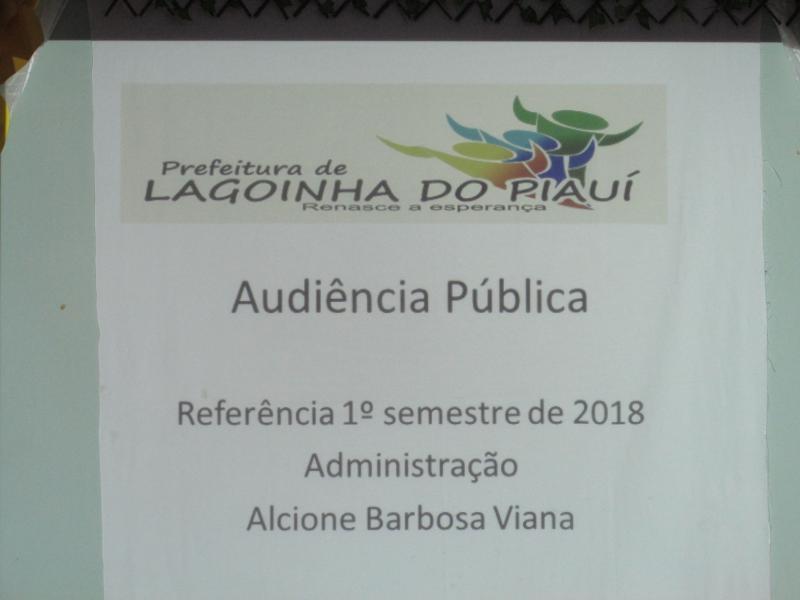 Prefeitura de municipal de  Lagoinha do Piauí realiza audiência pública