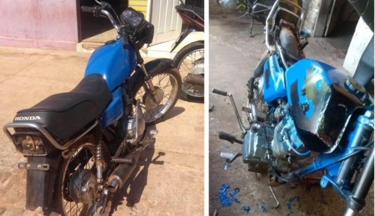 Moto tomada de assalto em Cabeceiras é encontrada abandonada em Barras