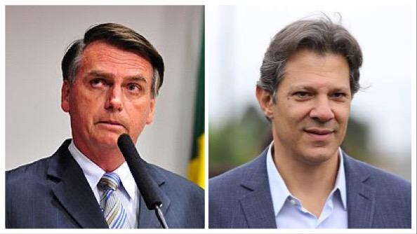 Datafolha: Bolsonaro chega a 32% e Haddad se mantém com 21%