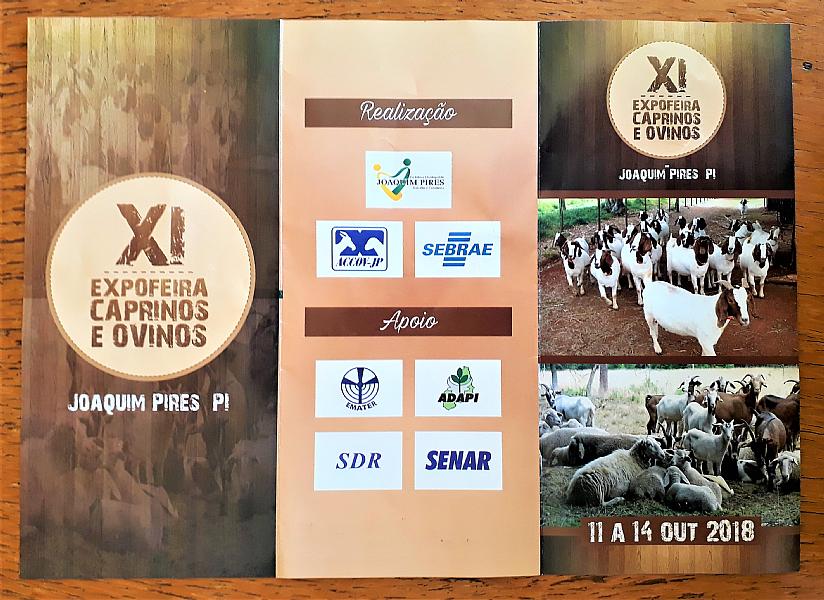 XI Expofeira de Caprinos e Ovinos de Joaquim Pires começa dia 12