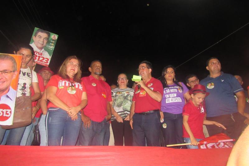 Limma realizou comício de encerramento de campanha em sua terra natal