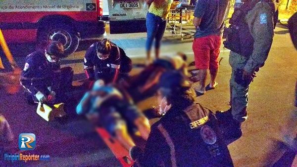 Acidente em curva deixa dois feridos em Piripiri