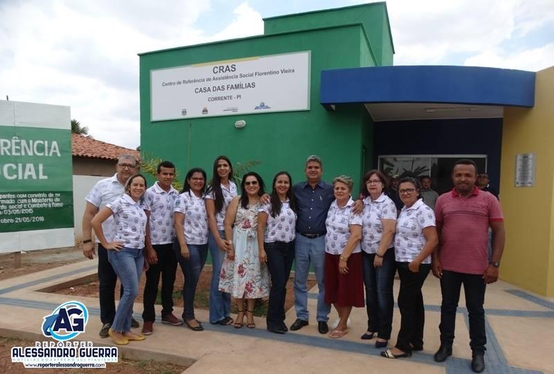 Prefeitura de Corrente inaugura sede do CRAS 'Florentino Vieira'