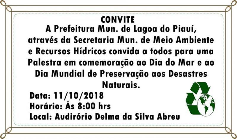 Prefeitura de Lagoa convida população para palestra
