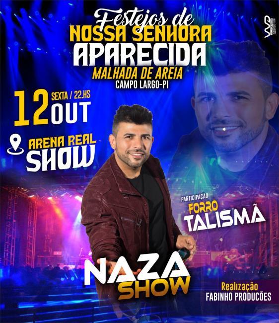 Primeiro lote de 100 ingressos antecipados pra grande atração de Naza Show