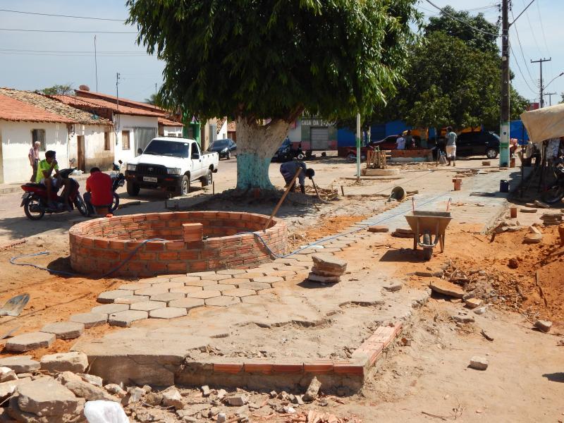 Prefeitura de Cristino Castro inicia reforma da Praça dos Paraibanos
