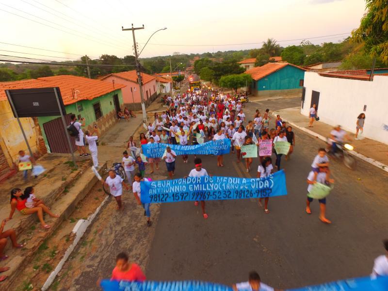 Caminhada pela vida reúne centenas de pessoas em São Pedro do Piauí