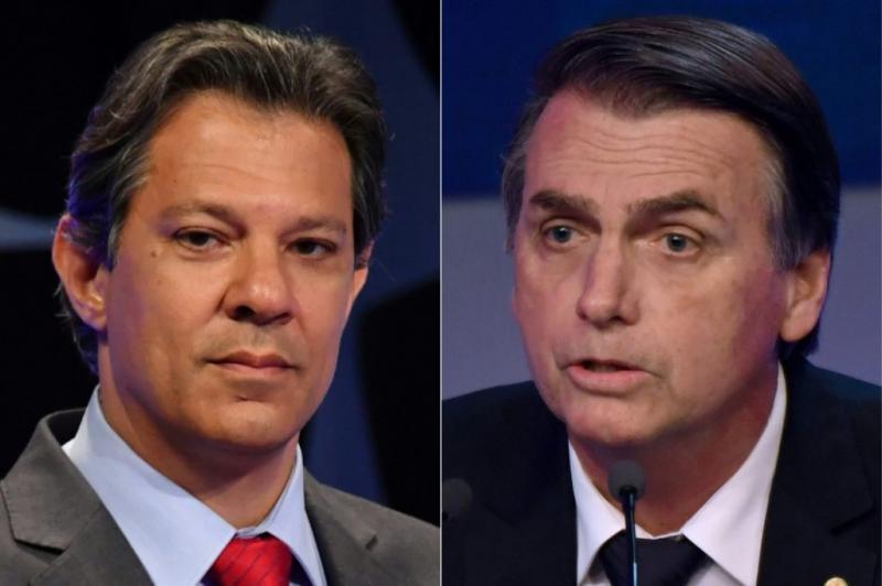 Pesquisa BTG/FSB: Bolsonaro tem 59% e Haddad, 41%