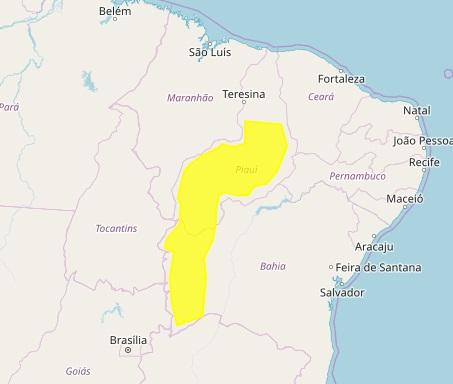 Meteorologia prevê chuva em cidades do Piauí
