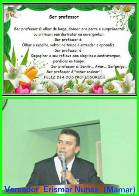 Homenagem do vereador Mamar para os professores