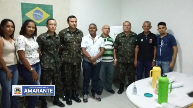 Prefeitura Municipal de Amarante recebe equipe do Tenente da Junta Militar