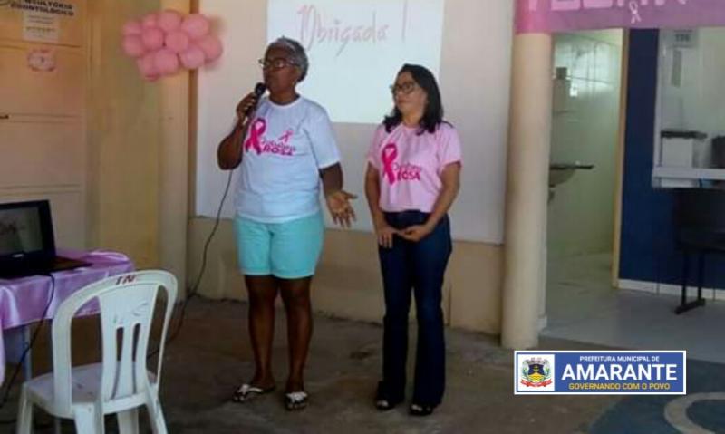 Prefeitura Municipal de Amarante realizando atividades do Outubro Rosa