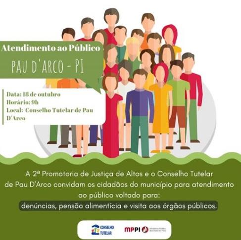 Conselho Tutelar de Pau D'arco promoverá dia de atendimento ao público