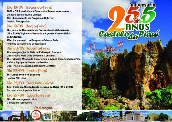 Prefeitura de Castelo do Piauí executa ações importantes no mês de aniversário da cidade