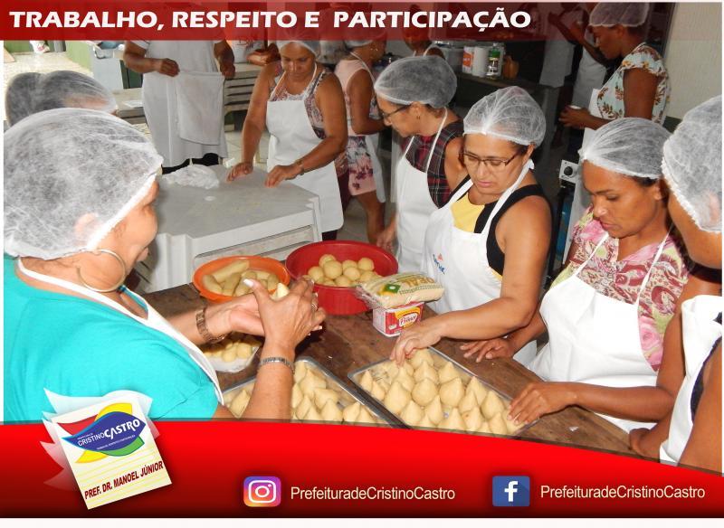 Secretaria de Assistência Social promove Curso de Culinária em Salgados