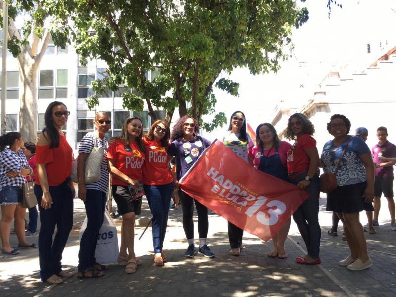 Movimento em apoio a Haddad é realizado em Teresina