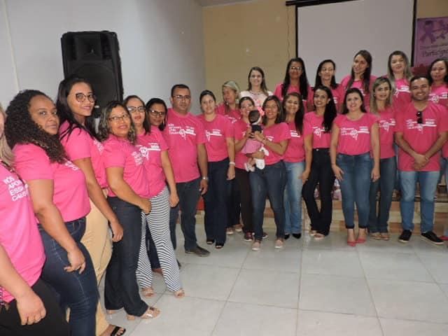 Prefeito Maninho e secretária de Saúde realizam comemoração do Outubro Rosa