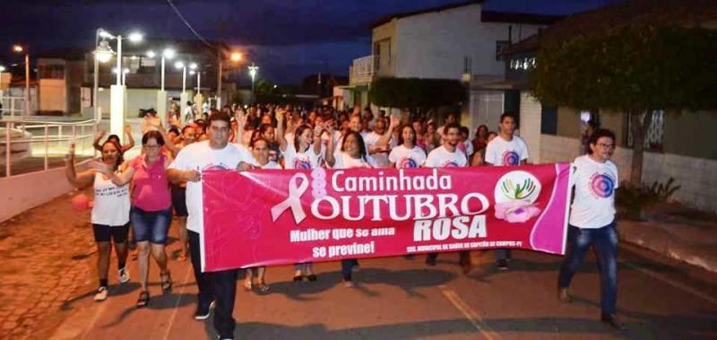 Outubro Rosa é comemorado com campanha e caminhada