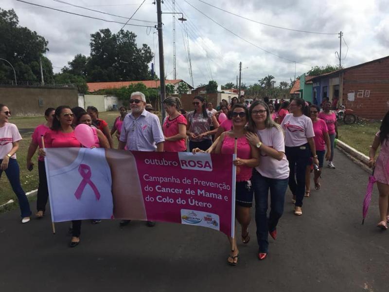 Prefeitura de Lagoa do Piauí realizou atividades alusivas ao 'Outubro Rosa'